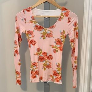 Floral Heart Cut-Out Top